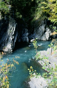 Goblin Gates on the Elwha River, named by Charles Barnes of the Press Expedition