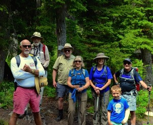 HIkers on a Pacific Northwest Historians Guild hike in July, 2016