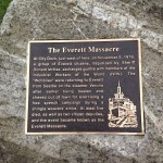 Plaque remembering the Everett Massacre